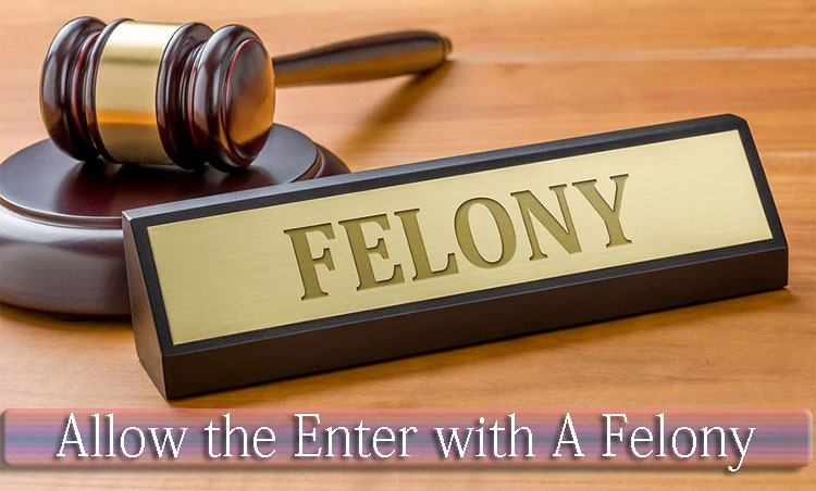 Allow the Enter with A Felony